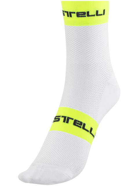 Castelli Free 9 Socks white/yellow fluo